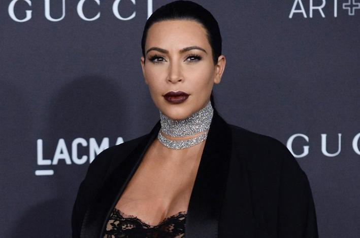Kim Kardashian con un girocollo firmato Lorraine Schwartz