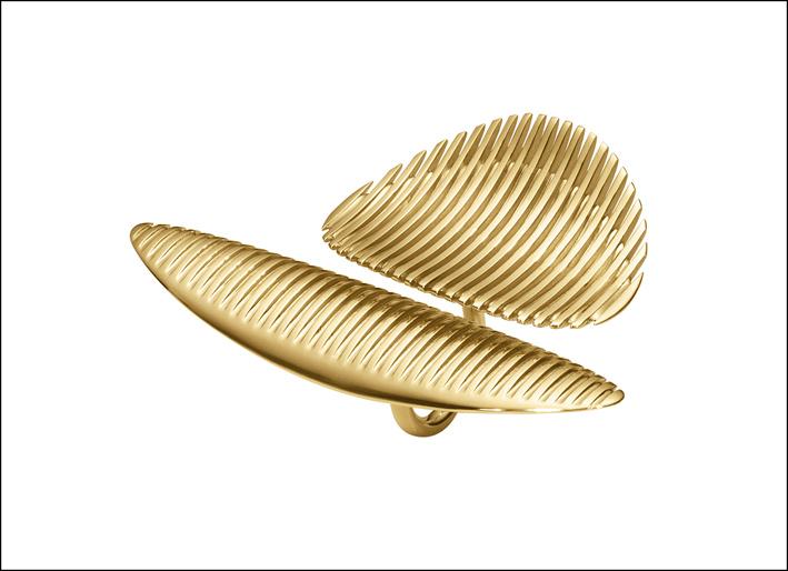 Anello doppio in oro e diamanti. Prezzo: 28.500 euro
