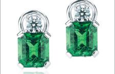 Orecchini a clip con diamanti e smeraldi