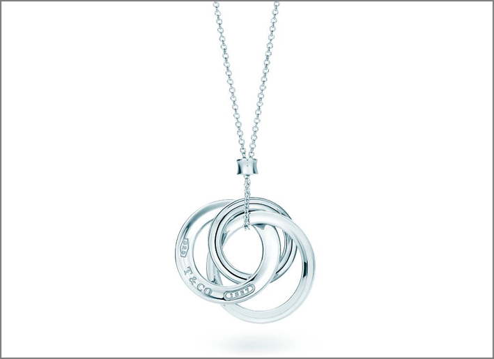 Pendente a cerchi intrecciati in argento