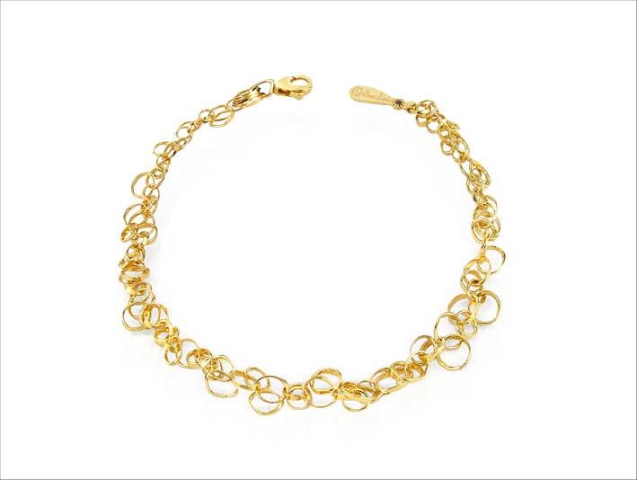 Scintille, bracciale in oro giallo