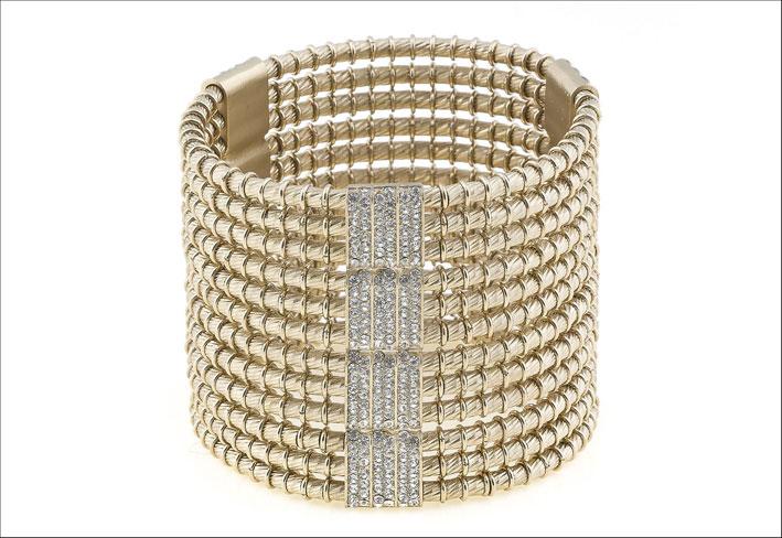 Bracciale in ottone e argento. Prezzo: 658 euro
