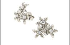 Orecchini in argento, perle Swarovski e zirconi