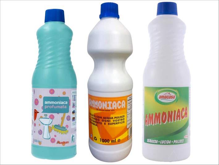 Bottiglie di ammoniaca