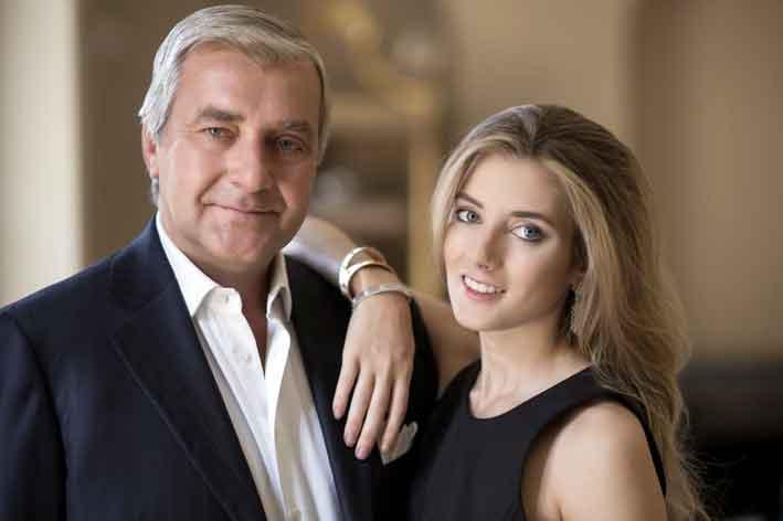 Andrea Buccellati e sua figlia Lucrezia
