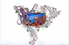 Coral Reef, spilla-ciondolo by Alessio Boschi