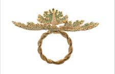 Anello Oaf Leeaf, in oro e tsavoriti