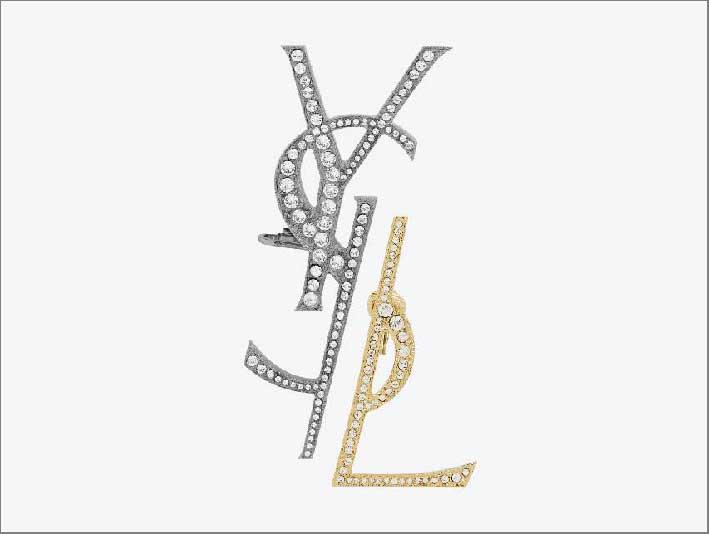 Orecchini Monogram con strass