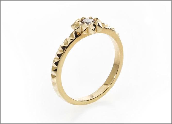 Anello Saint Germain, solitario con diamante