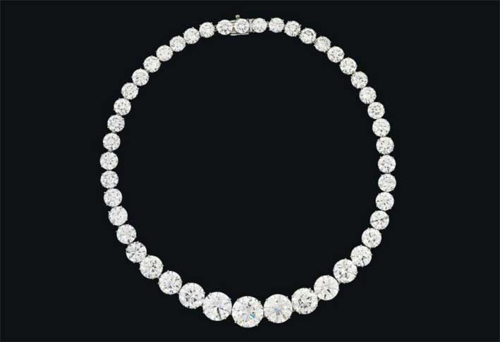 Collier di diamanti firmato Harry Winston e venduto da Christie's