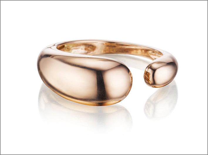 Collezione Gocce, anello in oro rosa