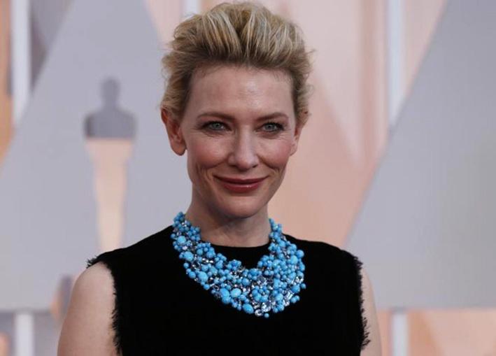 Cate Blanchett con collana di Tiffany alla premiazione degli Oscar