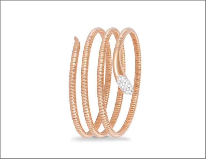 Bracciale in oro rosa e diamanti