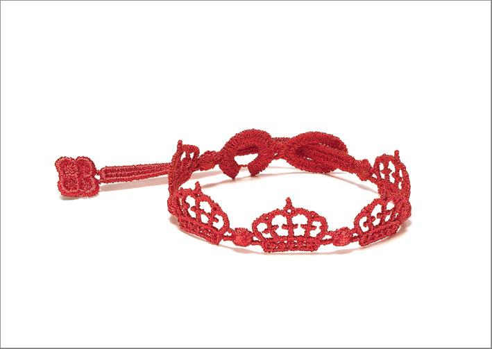 Braccialetto Cruciani Queen, colore rosso Ferrari