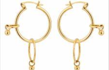 Erin Wasson, orecchini in oro giallo