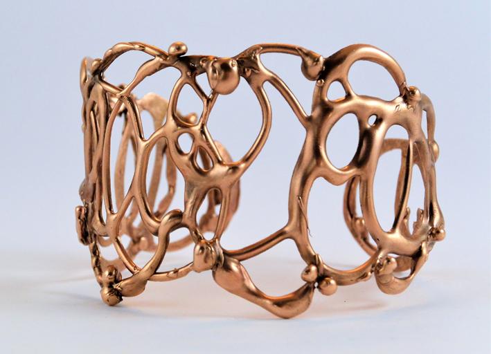 Collezione Ghirigori, bracciale in bronzo