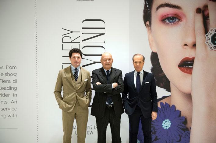 Matteo Marzotto, Vice Presidente IEG, Lorenzo Cagnoni, Presidente IEG, Corrado Facco, Direttore Generale IEG