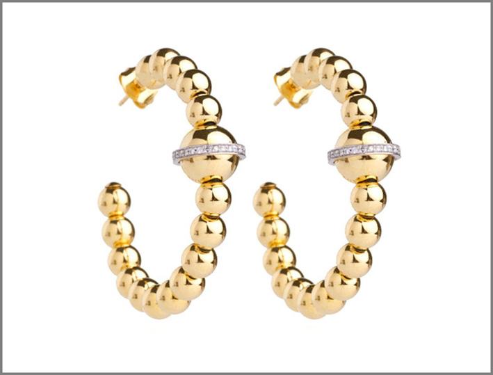 Collezione Barbarella, orecchini in oro rosa e diamanti