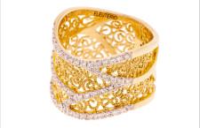 Anello della collezione Heritage in oro e diamanti