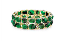 Bracciale in oro giallo e smeraldi