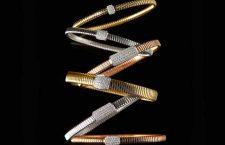 Bracciali tubogas in oro e diamanti