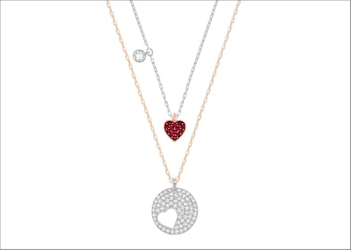 Swarovski, collana Crystal Wishes con cuore