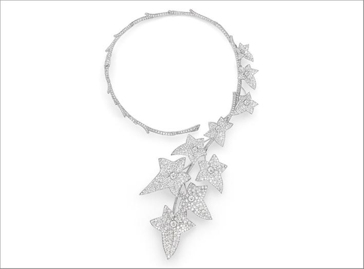 Collana Lierre de Parisi in oro bianco e diamanti
