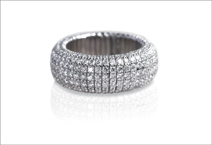 Demeglio, anello Giotto con diamanti bianchi