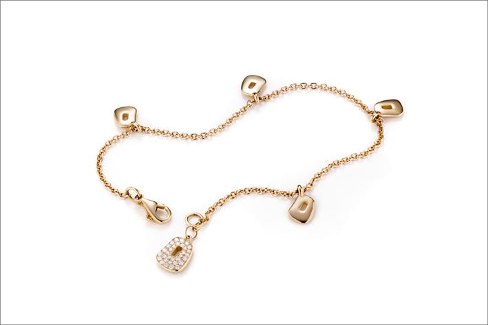 Collana in oro rosa e diamanti