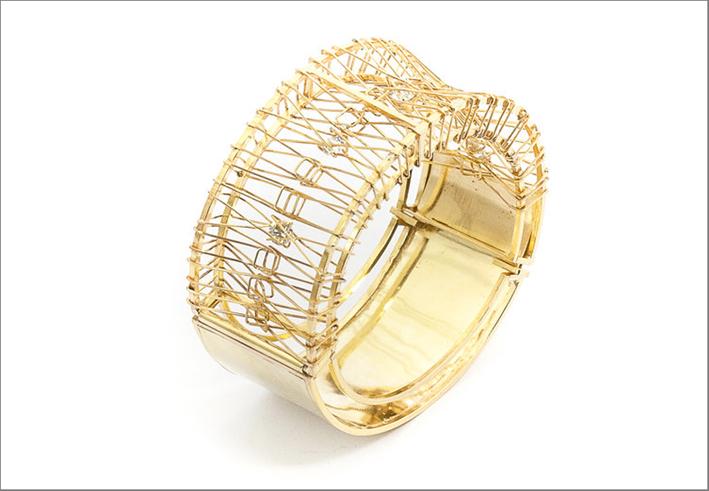 Bracciale in oro e diamante