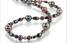 Gellner, collana con perle coltivate e diamanti black e brown della collezione Castaway