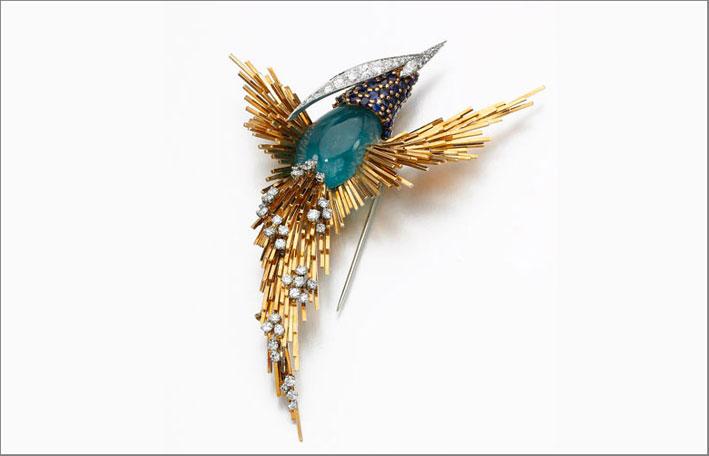 Spilla con diamanti firmata Pierre Sterlé. Stima: 24.000–32.000 sterline