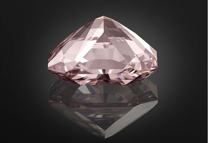 Agra, diamante rosa di 28.15 carati, che secondo la leggenda sarebbe stato offerto al Mughal Babur, fondatore dell'impero Moghul, quando ha conquistato la città di Agra, nel 1526