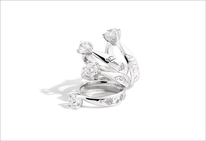Gruppo di anelli della collezione Florence