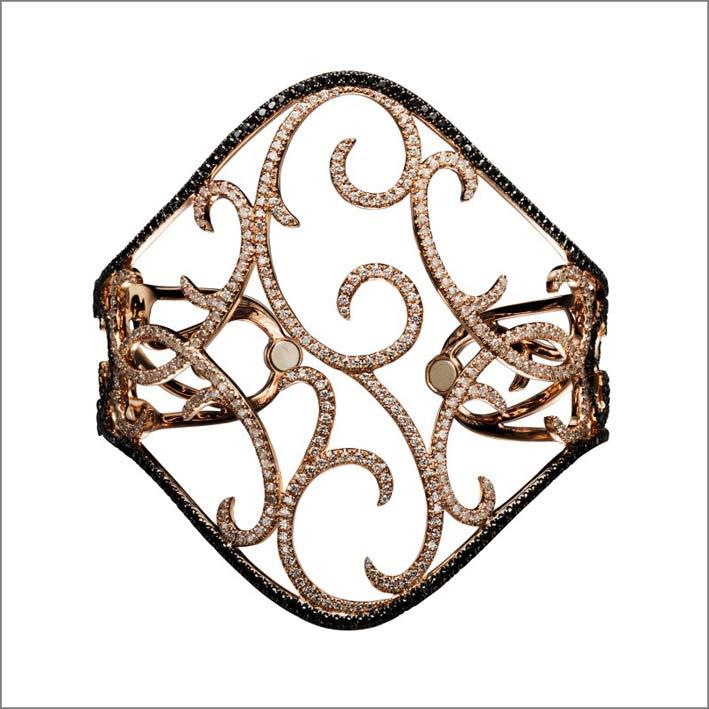 Bracciale in oro e diamanti, chiusura con magneti
