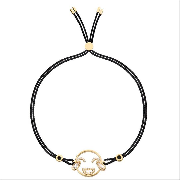 Bracciale Moyen LOL, in oro giallo, diamanti e topazio