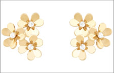Orecchini con tre fiori modello mini