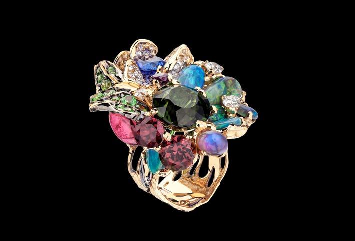Moiseikin, anello con gemme diverse