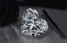 Diamante con taglio a cuore di 92 carati