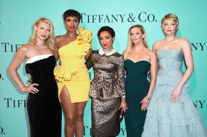 Claire Danes, Jennifer Hudson, Ruth Negga, Reese Witherspoon e Haley Bennett indossano gioielli  Tiffany al Blue Book Gala