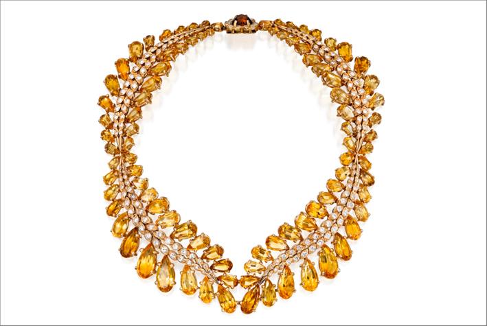 La collana-bracciale di Sterlé, condiamanti e citrini, appartenuta alla regina d'Egitto Narriman