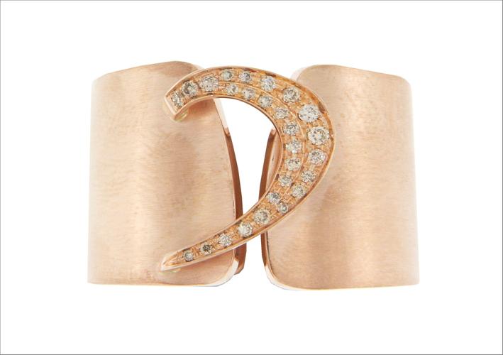 Collezione D-Band, Bracciale in oro rosa e diamanti