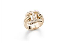 Mattioli, collezione Liaison, anello in oro rosa e diamanti
