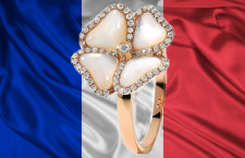 Bandiera francese con anello