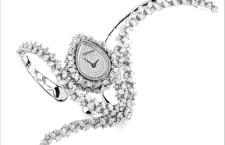 Majestic White, bracciale orologio con cassa a goccia, con 462 diamanti