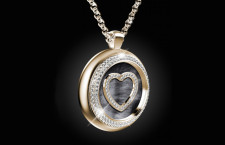 Pendente Heart's Passion in oro e diamanti, versione a tondo