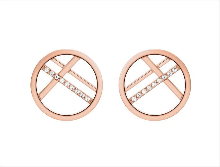 Collezione Lisbon, orecchini in oro rosa e diamanti