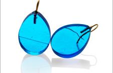 Orecchini Ghiaccio Drop azzurro