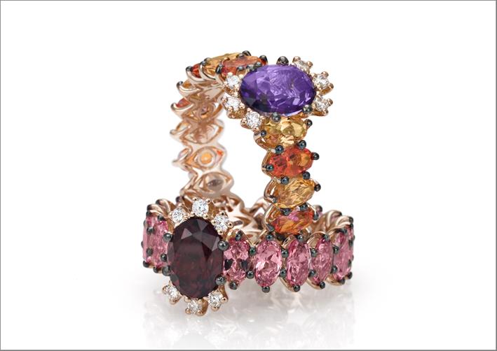 Stefan Hafner, anelli con pietre semi preziose