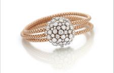 Fope, MiaLuce, bracciale in oro rosa con diamanti